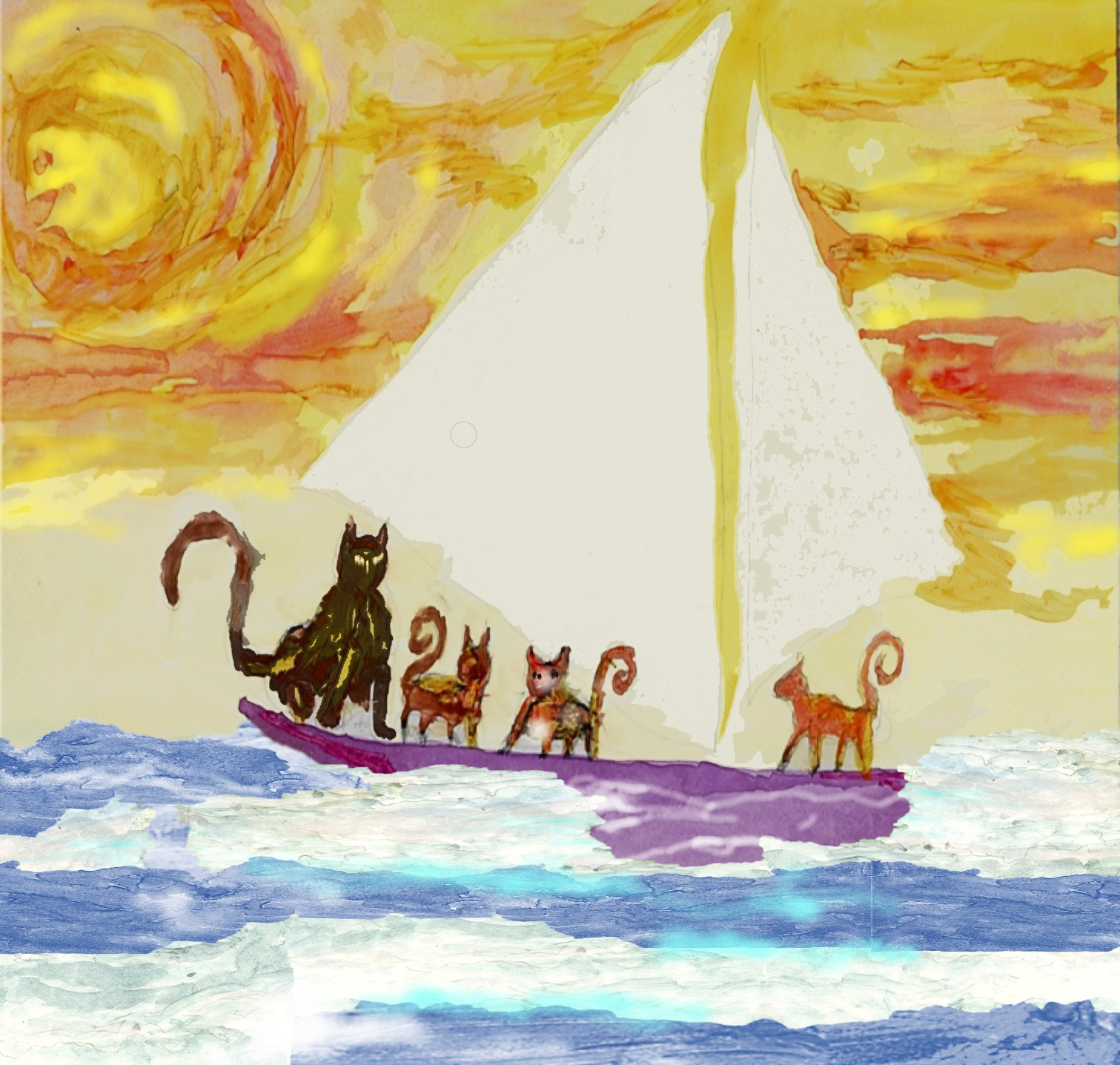 Cats-go-sailing
