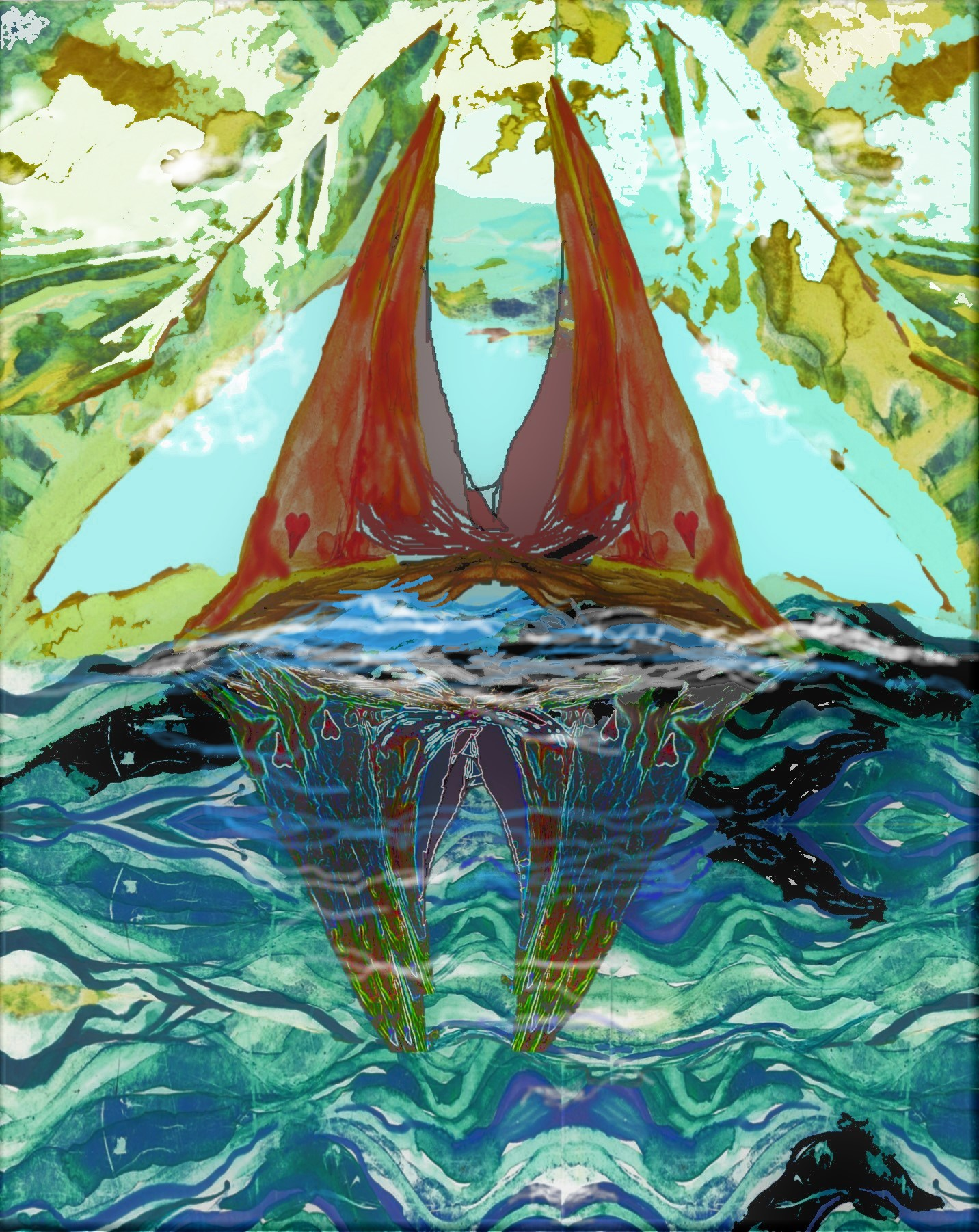 Sailboats-Inseparable-with-tattered-sails-2